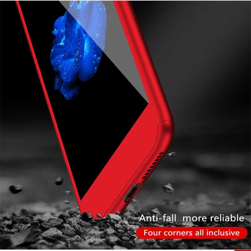 جراب هاتف حماية كاملة 360 لهاتف آيفون 11 برو XR XS Max غطاء لهاتف آيفون 7 8 6 Plus 5 5s Coque مع كابا زجاجي 2.5D Tempred