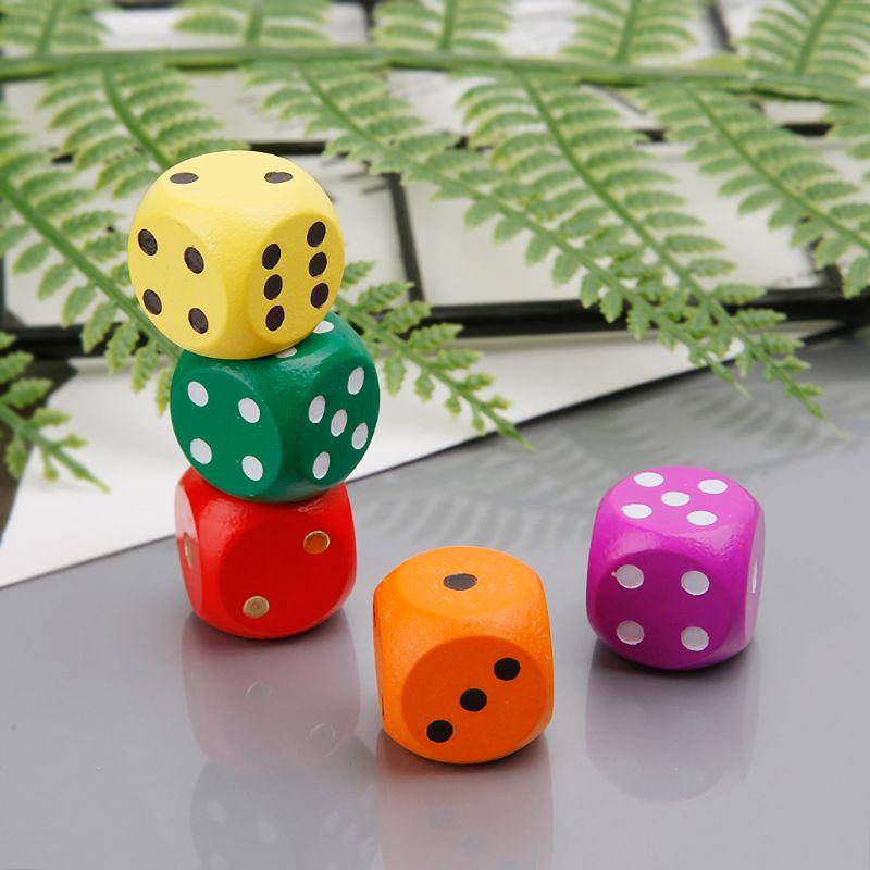 5 шт. 16 мм деревянные игральные кости с номером, круглые угловые шестигранники для семьи, вечерние детские игрушки, инструменты для ремонта в...