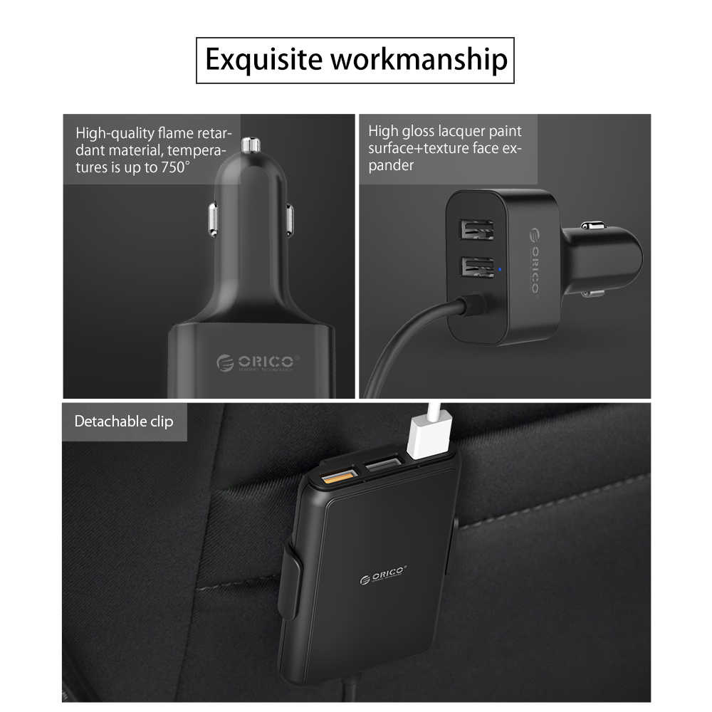 オリコ 5 ポート QC3.0 usb 車の充電器ユニバーサル usb 充電アダプタ 52 mpv 車の携帯電話タブレット pc 用 12 v-24 v