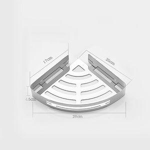 Image 5 - Punch Trasporto 304 In Acciaio Inox Triangolo Cestino Mensola del Bagno Della Parete di Aspirazione A Parete Bagno Di Stoccaggio Wc Doccia Scaffale