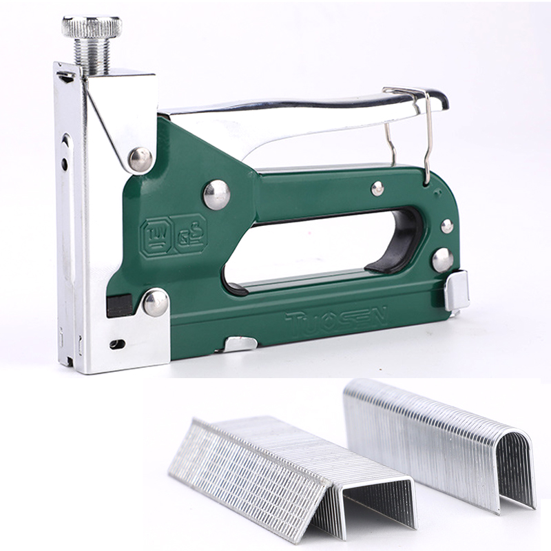 """6"""" 3 In 1 Manual Heavy Duty Hand Nail Gun Steel Furniture Stapler For Framing Staples By Free Woodworking Tacker Tools"""