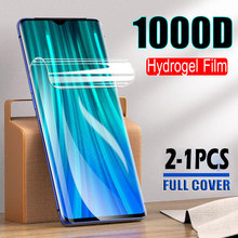 1000D 2-1PCS Soft Hydrogel Film Screen Protector For Xiaomi Redmi Note 8 8T 7 Pro k20 k30 Pro 7A 8A 8 Protective Film Full Cover