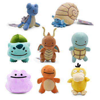 8 Styles Hot Doll 11-16cm Ditto Omanyte Dragonite Lapras Bulbasaur Squirtle Charmander Plush Stuffed Anime Toy Kids Gift 1pcs 12 15cm anime cartoon charmander squirtle bulbasaur clefairy ditto metamon plush toys soft stuffed dolls 5 styles