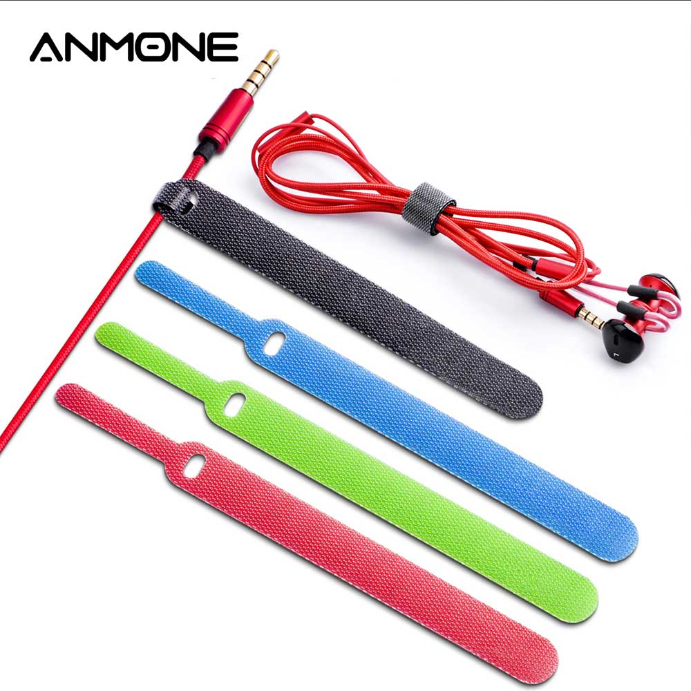 20Pcs ANMONE USB Cable Organizer Cable Management For Mouse Cord Earphone Cord Clip HDMI Aux Cable Holder Protector Wholesale