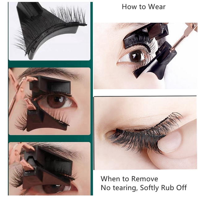 Magnetic Eyelashes Natural 3D Magnetic Eyelash No Glue, with Applicator Clip,pestañas magneticas,cils magnetique,cilios magnetic 5