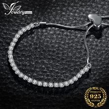 JPalace Love Bracelet 925 Sterling Silver Bracelet Snake Chain Bolo Bracelets For Women Silver 925 Jewelry Making Organizer athenaie 925 sterling silver love snake chain charms bracelet