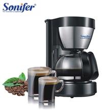 0.65L elektryczny ciśnieniowy ekspres do kawy domowy ekspres do kawy 6 filiżanka herbata kawa Pot 220V Sonifer