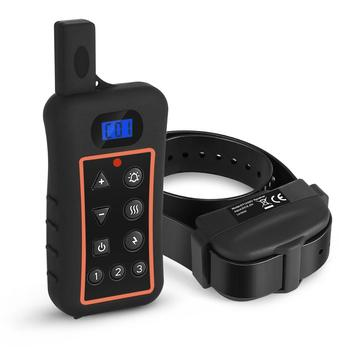 Trainertec waterproof rechargeable Remote 1200 meters dog training collar with shock vibrate beep train 3 dogs Collar DT1200V