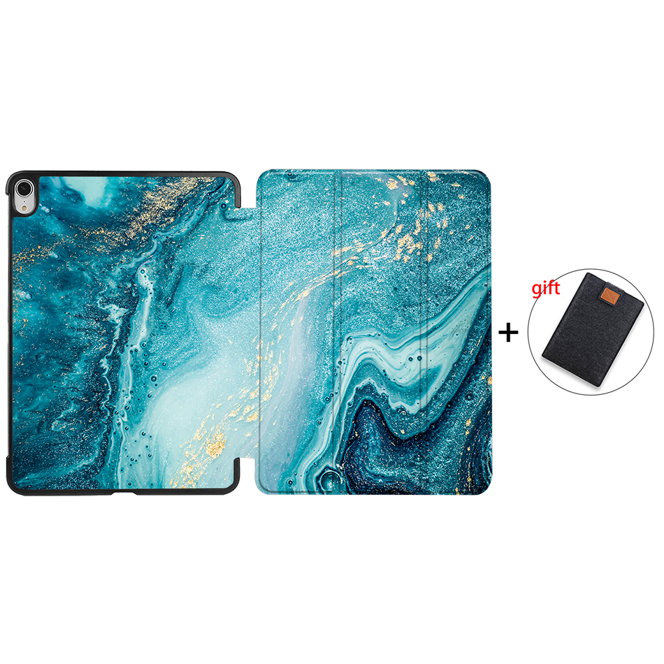 IP20 Navy Blue MTT Tablet Case For iPad Air 4th Generation 10 9 inch 2020 PU Leather Folio Flip