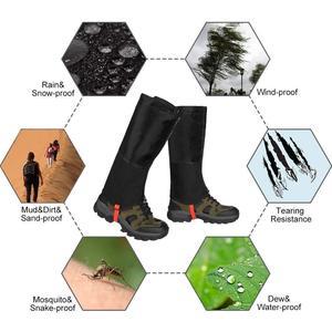 Image 5 - Waterproof Snow Leg Gaiters Hiking Boot Legging Shoes Warmer Snake Shoe Cover Tourist Outdoor Camping Trekking Climbing Hunting