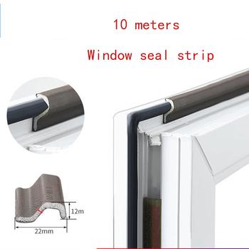 10M samoprzylepne okna paski uszczelniające taśma piankowa wodoodporna pyłoszczelna taśma uszczelniająca izolacja akustyczna pasek gumowy drzwi tanie i dobre opinie NONE CN (pochodzenie) 30*7mm BLACK Taśmy uszczelniające Silicone Seal Strip Foam Seal Strip Nylon Cloth+pu Foam Door Window Etc
