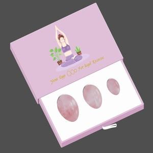 Image 5 - Rose Quartz Yoni Egg Set Vaginal Tightening Love Egg Kegel Exerciser Natural Stone Crystal Yoni Wand Feminine Hygiene kegel ball