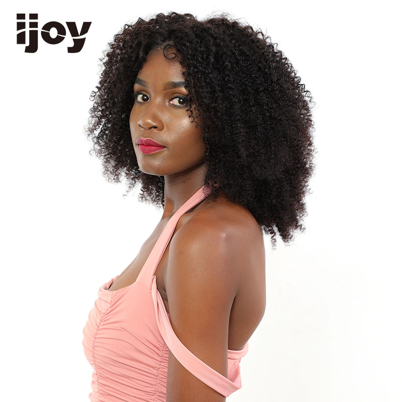 Kinky Curly Wig Human Hair Wig Cosplay Natural Hair Bob Lace Front Wigs Curly Wig 4x13 Brazilian Wig 16-26 Inches Non-Remy IJOY