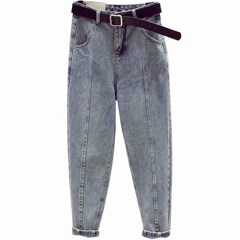 Boyfriend Jeans For Women Spring Autumn Fashion Streetwear High Waist Ripped Denim Harem Pants Jean Plus Size