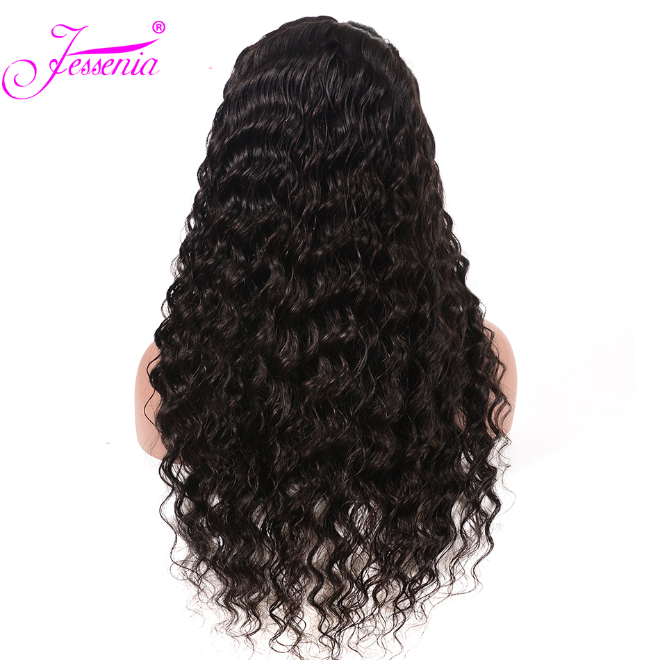 13*4 Lace Front Deep Wave Human Hair Wigs For Black Women Pre Plucked 150 Density Brazilian Human Hair Lace Front Wigs