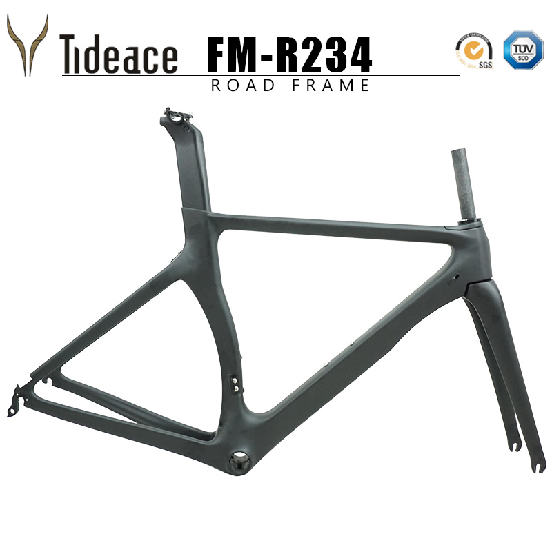 Discount UD Carbon Road Bike Frame Carbon Fibre Racing Bicycle Frame700c 46/48/50/52/54cm Accept Painting