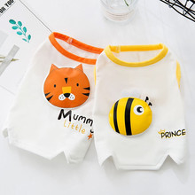 Spring and summer for small dog pet clothes cotton vest breathable beautiful pet cat spider dog clothes dog clothes teddy dog vest spring and summer dog clothes suitable for small and medium sized dog coffee cotton pet vest t shirt