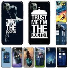 цена Tardis Box Doctor Who TARDIS Black TPU Soft Rubber Phone Cover For iphone 5 5S SE 5C 6 6S 7 8 plus X XS XR 11 PRO MAX онлайн в 2017 году