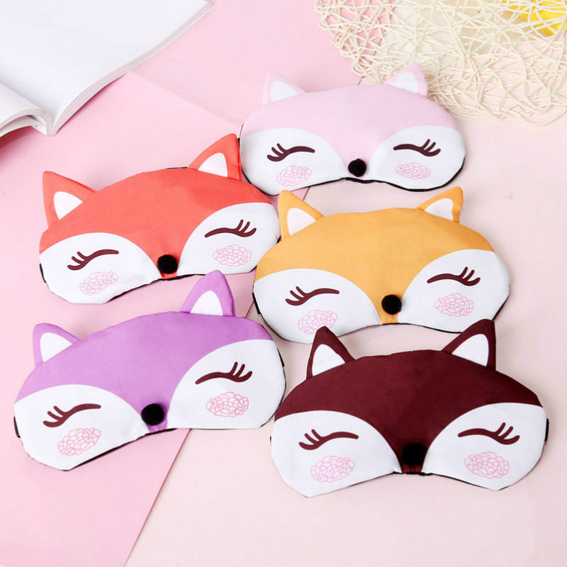 Sleep Eye Mask Eyeshade Cotton Fox Eyepatch Sleeping Mask Cute Eye Cover Travel Rest Eye Band Sleeping Aid Kids Eye Blindfolds