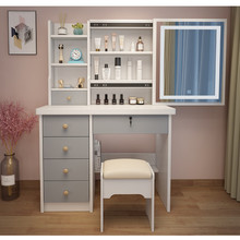 Table-Furniture Vanity-Table Mirrored Drawers Makeup Wooden Bedroom Modern with Dresser
