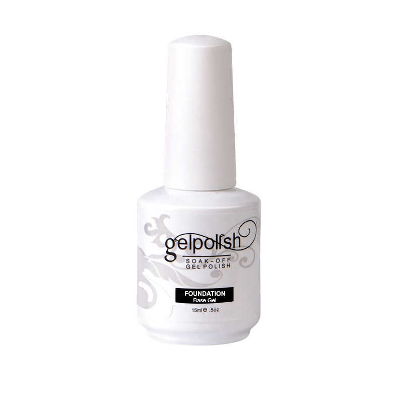 Verntion 15 Ml Top dan Base Coat Gel Gel Cat Kuku Foundation Uv Gel Nail Polish Tahan Lama Kuku Primer gel Polygel Top Coat