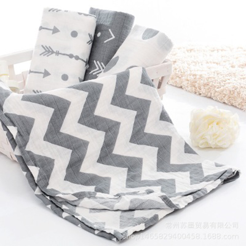 High Quality Muslin Cloth Cotton Newborn Baby Swaddles Baby Blankets Double Layer Gauze Bath Towel Hold Wraps Hot Sale