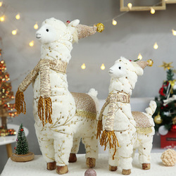 Santa Claus Snowman Alpaca Elk Christmas Decorations for Home New Year Christmas Doll Home Figures Ornaments merry christmas