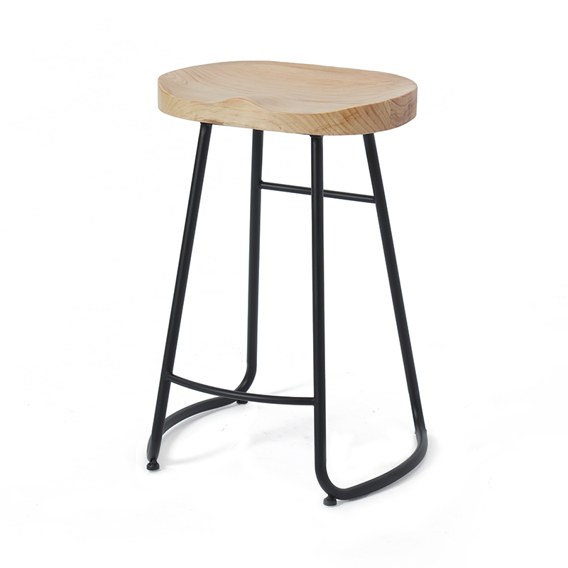 Iron Stool Seat Modern Minimalist Nordic Bar Light Luxury Solid Wood Home Personality High Chair Sillas Banqueta Sgabello