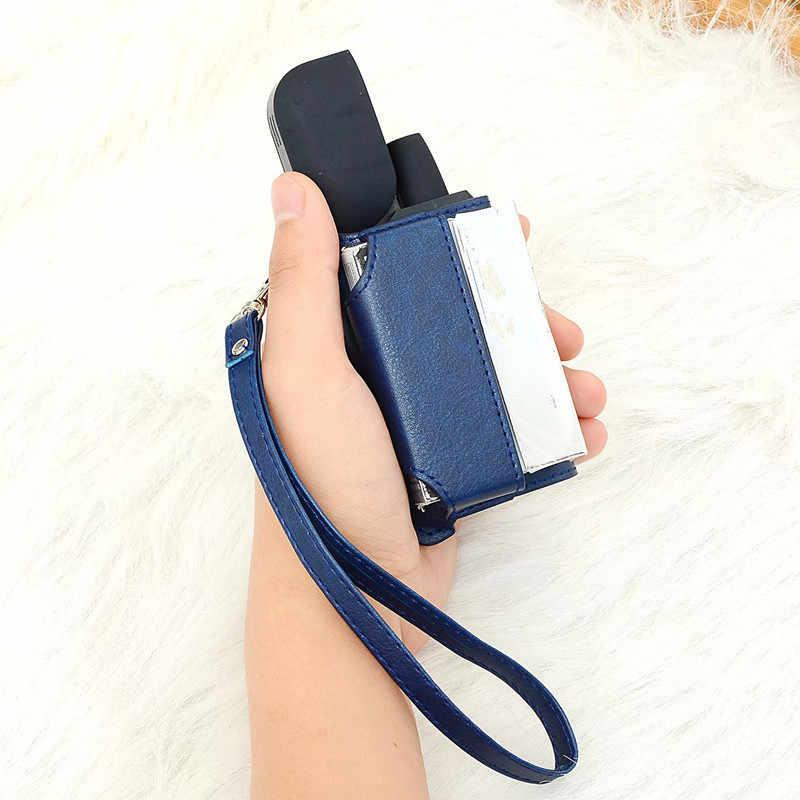 2 In 1 Beschermende Case Cover Sleeve Holder Carrying Opbergdoos Lanyard Draagbare voor IQOS 2.4 PLUS Elektronische Sigaret Houders