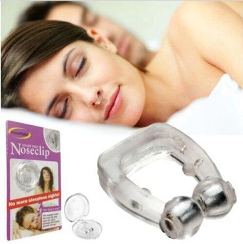 Абсолютно стиль унисекс силиконовый Магнитный клиппер Анти Храп Стоп храп нос зажим для сна