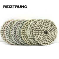 REIZTRUNO 3 inch 80mm Square diamond wet polishing pads for marble,granite,quatrz,Natural Stone polishing,wet or dry use
