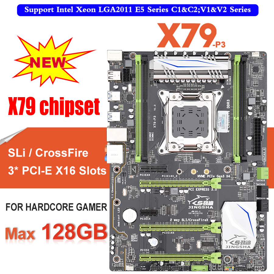 X79 P3 QUAD Channel Deluxe X79 motherboard ATX USB3.0 SATA3.0 LGA 2011 Gaming motherboard Support mainboard 128GB DDR3 REG ECC-in Motherboards from Computer & Office    1