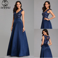 Skyyue Evening Dresses Plus Size Women Party Dresses Sleeveless Seqauin Sexy Hollow Robe De Soiree Formal Evening Gowns C549