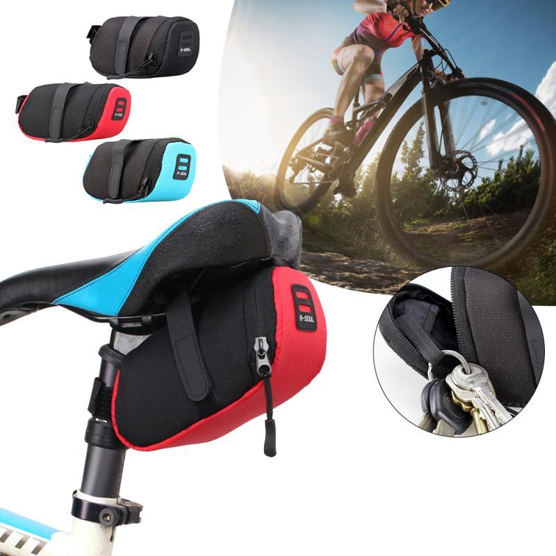 Bike Rear Seat Saddle Bag Waterproof Bike Tail Rear Pouch Storage Phone Bag