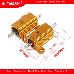 2 Pcs 10W Aluminium Power Metal Shell Case Draadgewonden Weerstand 0.1 ~ 10K 0.5 1 2 3 5 6 8 10 20 100 150 200 300 500 1K 5K 10K Ohm