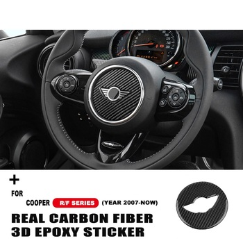 Car Steering Wheel Stickers Decal Carbon Fiber Decoration For Mini Cooper One S JCW R55 R60 R61 F55 F56 F60 Car Accessories недорого