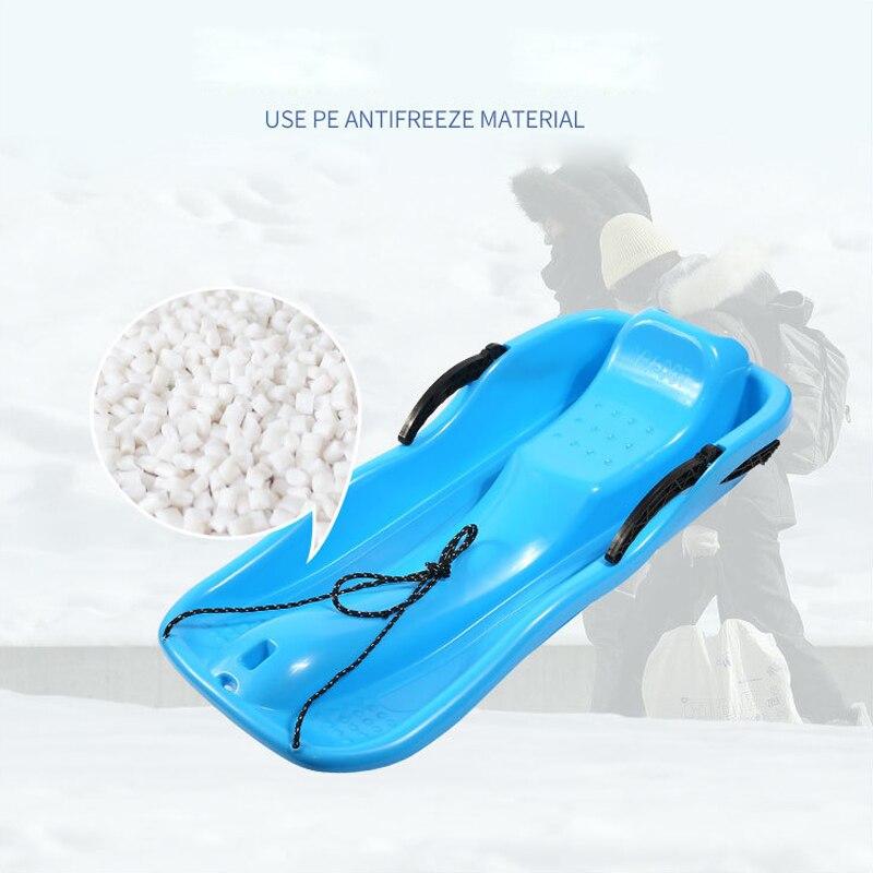 Plastic Snow Sled Lightweight Toboggan Durable Sports Snow Slider Children Adult Outdoor Skis Winter Ski Board Thicken Snowboard