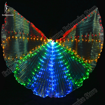 New Isis Wings Belly Dance Led Dance Stick Led Butterfly Wing Opening Adults Lamp Props 360 Degrees Performance Accessories