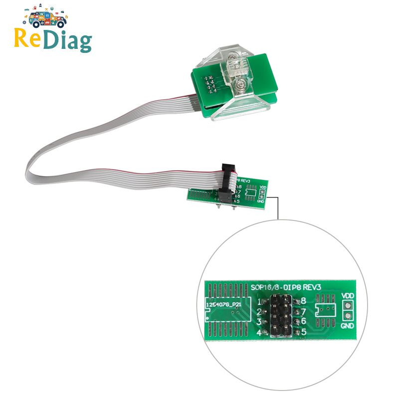The Newest OEM FEM-BDC 95128/95256 Chip Anti-theft Data Reading Adapter 8Pin Adapter For BMW