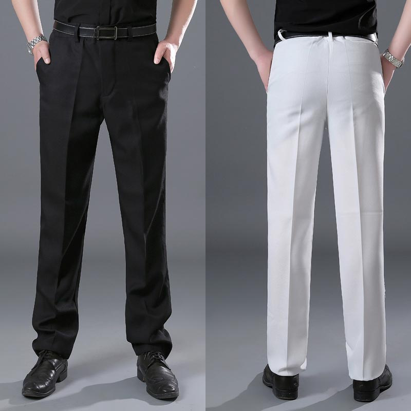 Oversize Men's Suit Pants Black&White Trousers Stage Costume Male Adjustable Waist Pants Suit Trousers For Men Plus Size 4XL 3XL