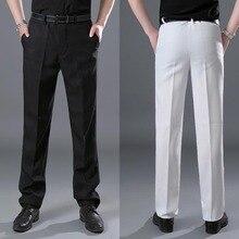 Негабаритных мужской костюм брюки черные и белые брюки сценический костюм мужской регулируемая талия Брюки костюм брюки для мужчин плюс размер 4XL размер 3XL