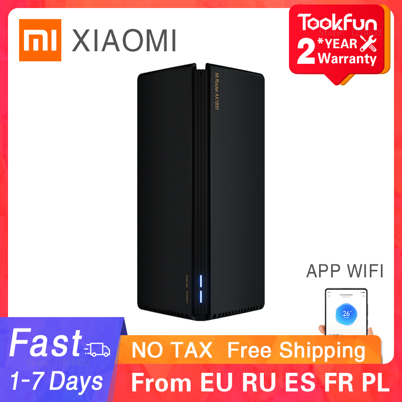 New Xiaomi AX1800 Wireless Router Mesh WIFI VPN Dual-Frequency 256MB 2.4G 5G Full Gigabit OFDMA Repeater Signal Amplifier PPPoE 1