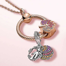 Angel Leaf Necklaces for Women Jewelry Friendship Necklace Beaded Snake Chain Original Necklace Pendant Charm Gift classic cross pendant necklace for man women snake chain silver plated jewelry gift dropshipping wholesale