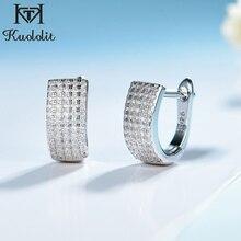 Kuolit boucles doreilles en Zircon, pierres précieuses, boucles doreilles en argent Sterling 925, bijoux fins, fiançailles, mariage, à la mode