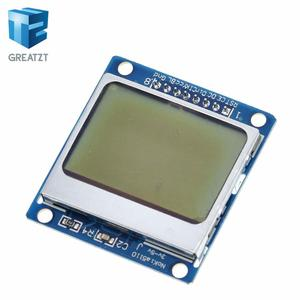 Image 2 - Smart  Electronics LCD Module Display Monitor Blue backlight adapter PCB 84*48 84x84 lcd 5110 Nokia 5110 Screen for Arduino