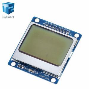 Image 2 - الالكترونيات الذكية وحدة lcd شاشة عرض الأزرق الخلفية محول PCB 84*48 84x84 lcd 5110 نوكيا 5110 شاشة لاردوينو
