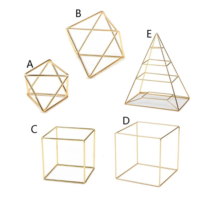 Pyramid Square Polygon Hanging Jewelry Organizer Necklace Earrings Rack Jewelry