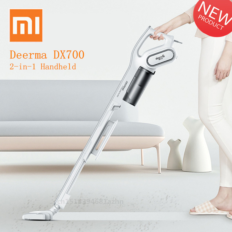 Xiaomi Deerma DX700 2 In 1 Handheld Vacuum Cleaner With Large Capacity Dust Box Low Noise Triple Filter Vertical Dust Collector-in Vacuum Cleaners from Home Appliances