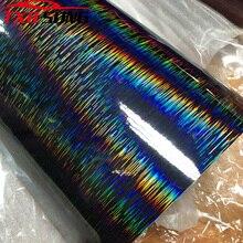 50cmx20 0/300cm Hohe glänzend schwarz Gebürstet Regenbogen Vinyl Metall Auto Wrap Film DIY Styling Adhesive Auto Motorrad aufkleber