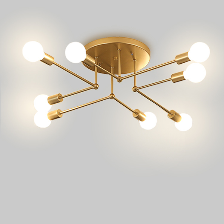 Nordic Postmodern Gold/White/Black LED Ceiling Light Living Room Bedroom Living Room Creative Home Lighting Fixture Ceiling Lamp